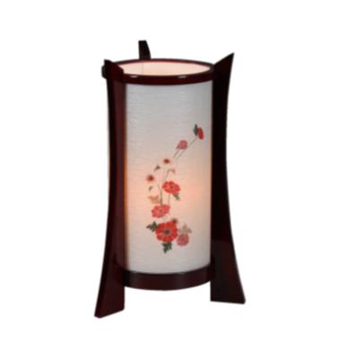 民芸灯ひなげし(31cm)紫檀調 特価 1台 8,500円